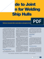 Guide to Joint Design for Welding Ship Hulls