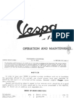 Vespa Piaggio 150 Operation & maintenance