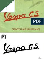 Vespa Piaggio GS Operation & maintenance