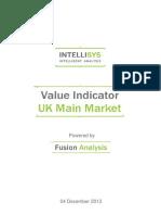 Value Indicator - UK Main Market 20131204