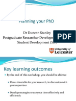DS Planning Your PhD