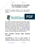 What Are the Advantages of Auricular Therapy for Smoking Cessation