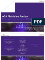ASA Guideline Review