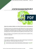 10 Environment Quran Verses