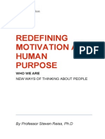 Redefining Motivation as Human Purpose