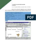 Elementos de La Ventana Del Procesador Electronico de Texto