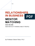 Relationships in Business (I) Mentor Matching