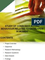 Consumer Buying Behaviour Related to DATACARDS in Mumbai