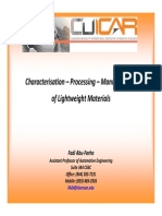 Characterisation - Processing - Manufacturing of Lightweight Materials _ Fadi-Clemson University