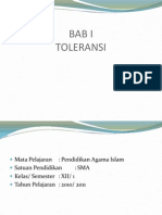 Bab 1 Toleransi Dalam Islam