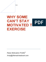 Why Some Can't Stay Motivated to Exercise