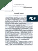 REPRESENTANTE LEGAL, ESCRITURAS PÚBLICAS