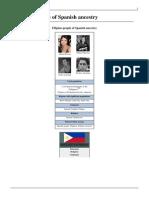 Filipino People of Spanish Ancestry