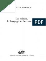 La Raison, Le Langage Et Les Normes [Sylvain Auroux]