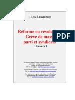 Rosa Luxemburg Oeuvres 1