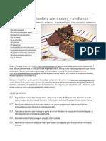 Brownies de Chocolate Con Nueces Y Avellanas