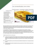 Milhojas de Filloas Caramelizadas Con Crema Catalana