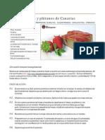 Pudin De Fresas Y Plátanos De Canarias