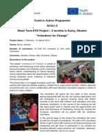 Volunteers for Change Project Info
