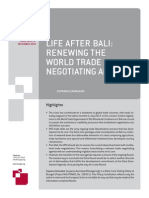Life After Bali - Renewing the World Trade Negotiating Agenda