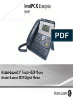 ENT PHONES IPTouch-4028-4029Digital-OXEnterprise Manual 0907 US