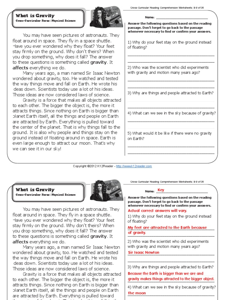K12reader Answer Key - Preschool & K Worksheets