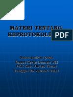 MATERI TENTANG KEPROTOKOLERAN