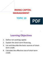 Working Capital Management Slides