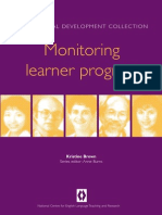 Monitoring Learner Progress