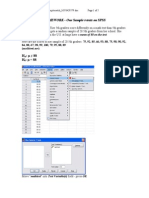 One Sample Homework Spss