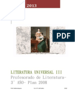 Literatura Universal III- Programa analítico 2013