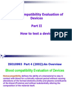 Biocompatibility Evaluation Testing of Devices