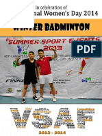 2014 Winter Badminton Tournament Sponsor Brochure