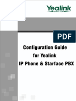 Configuration Guide for Yealink IP Phone Starface