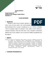 Programa Econometria 2011