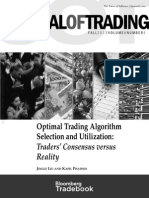 Journal of Trading Optimal Trading Algorithm Selection
