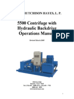 5500 Centrifuge Hydraulic Backdrive Operations Manual