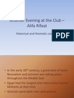 another evening at the club  alifa rifaat