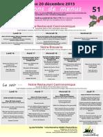 Menus des semaines 51 (2013) et 02 (2014)