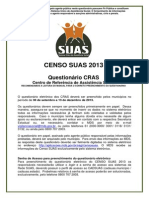 Questionario CRAS Censo SUAS 2013