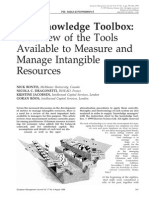 BONTIS_ KnowledgeToolbox Review of the Tools Available to Measure and Manage Intangible Resources.