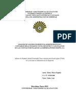 ANALISIS DE LOS PROCEDIMIENTOS ADMINISTRATIVOS Y CONTABLES RELACIONADOS CON EL REGISTRO Y CANCELACION DE LAS CUENTAS POR PAGAR DE LA EMPRESA PETROCEDEÑO, S.A. 20