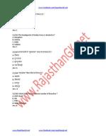 Rajasthan GK Question Sample Paper 57