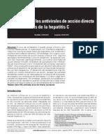 Resistencia a los antivirales de acción directa contra el virus de la hepatitis C
