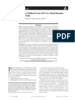 Determinants of Early Childhood Caries (ECC) in a Rural Manitoba