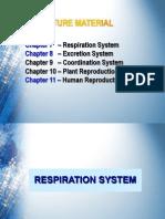 A. Respiration System - Part 1