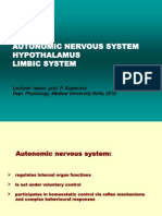 Autonomic Ner Sys Hypothalamus Limbic MedEng 1010