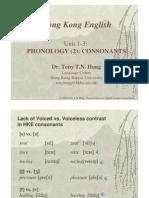 Phonology Lecture Hong Kong English Consonants