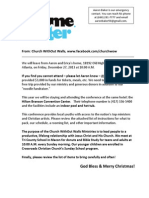 2013 Xtreme Winter Conference Letter to Participants