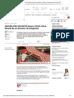Dezvaluire socanta Despre Coca-cola